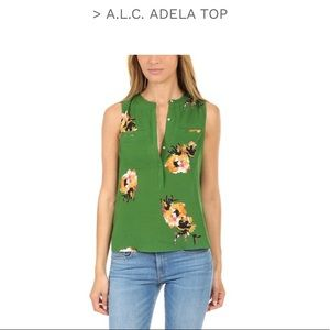 A.L.C. NWT Women's Adela Silk Floral Top size 6